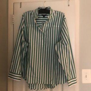 NWT Green and White Stripe J Crew Shirt